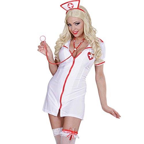 Amakando Krankenschwester Set Ärztin Kit Haube, Strumpfhalter und Stethoskop Schwester Kostüm Set Sexy Nurse Kostümset Mottoparty Accessoires (Schwester Kostüm)