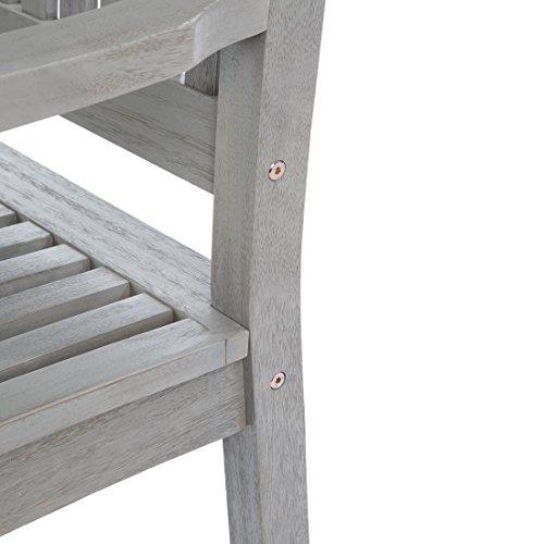 Ultranatura Gartenbank 3-Sitzer, Edles und Hochwertiges Eukalyptusholz, 152 cm x 66 cm x 86 cm - 5