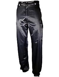 Pantalon de travail noir pour la sécurité fermeture ourlet par élastique
