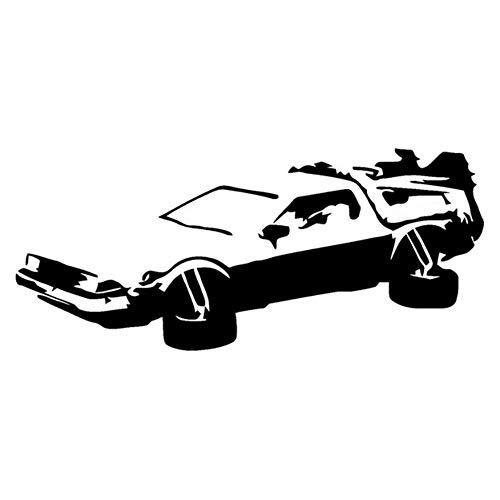 JXLK HotMeiNi Auto Aufkleber Jdm Styling Fenster Bumper Truck Karosserie Aufkleber Delorean Zurück in die Zukunft Marty Mcfly Doc Brown Decor 19X8.2cm (Marty Und Doc)