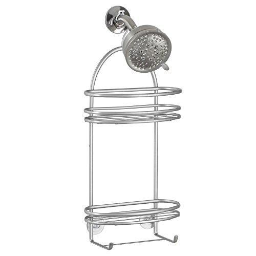 iDesign 55846EU Axis Badezimmer/Dusch-Caddy für Shampoo/Conditioner/Seife, 10.8 x 24 x 53.2 cm, Edelstahl, silber -