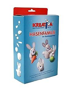 KREATIVA 1008570028 - Juego de Manualidades para Cortar Verduras, diseño de Familia de Conejos, Color Blanco