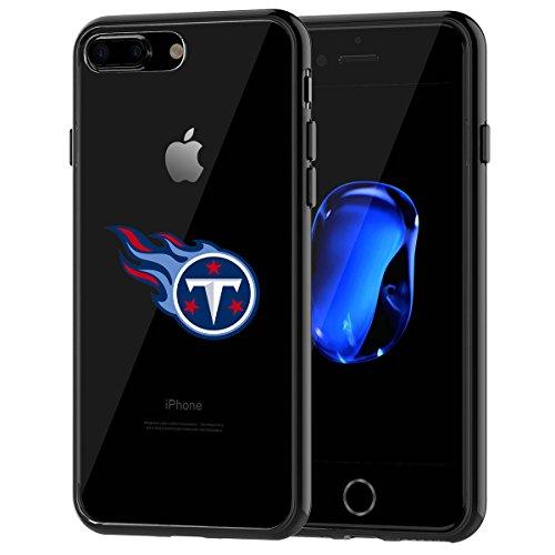 Schutzhülle, Stoßdämpfung TPU + Translucent gefrostet kratzfestem Hard Backplate Back Cover für iPhone 7Plus, Schwarz ()