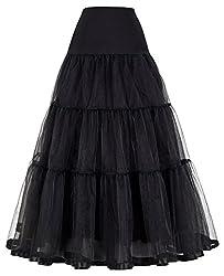 Unterrock Damen Marineblau Reifrock a Linie Petticoat für Rockabilly Kleid 4X CL421-1