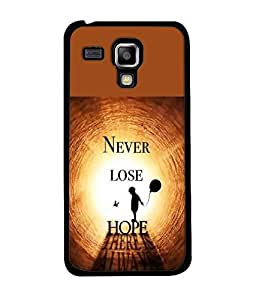 FUSON Designer Back Case Cover for Samsung Galaxy S Duos 2 S7582 :: Samsung Galaxy Trend Plus S7580 (Never Stop dream big Goals Crazy people)