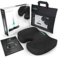 iamcomfi Coccyx Cushion - Orthopedic Memory Foam Support Cushion for Sciatica, Tailbone and Hip Pain - Pressure Relief on the Back and Coccyx in your Car Seat, Office Chair or Wheelchair