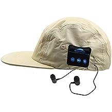 DCCN Bluetooth Gorra de béisbol con Auriculares estéreo con Cable y Micrófono para Smartphones