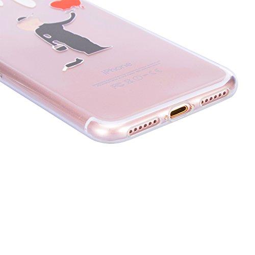 Coque iPhone SE, Sunroyal iPhone SE 5 5S Silicone Coque de Protection Transparente TPU Gel Souple Etui Housse Anti-choc Shock-Absorption Bumper Case Cover Premium Ultra-Mince Motif Impression Créatif  Motif 09