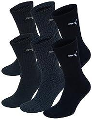 Puma Crew Socks Sport Socks 6er Pack = 6 Paar