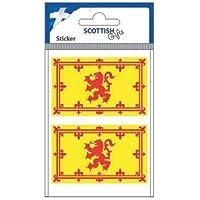 Scottish 2 Small Lion Rampant Flag Vinyl Car Sticker