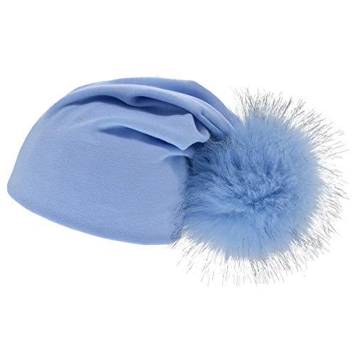 Baby Mütze Beanie Cap Big Fur Ball Winter Herbst Soft Cotton Skull Caps for 1-4 Y Kleinkind Fleece Skull Cap Hat
