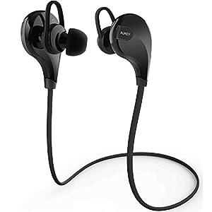 AUKEY Sport Bluetooth Kopfhörer 4.1 Wireless Stereo Headset Ohrhörer In-Ear-Kopfhörer mit Mikrofon für iOS und Android Handys iPad Laptops Tablets