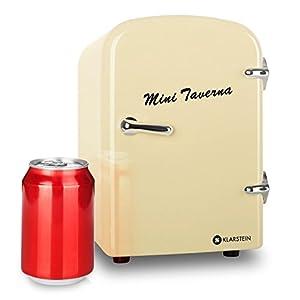 Klarstein-Mini-Taverna-mobiler-kleiner-Mini-Auto-Khlschrank-12V-Khlbox-Warmhaltbox-4-Liter-Tragegriff-Netz-oder-via-12V-Zigarettenanznder-Betrieb-creme