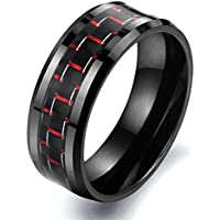 SaySure - fiber Ceramic Men rings black