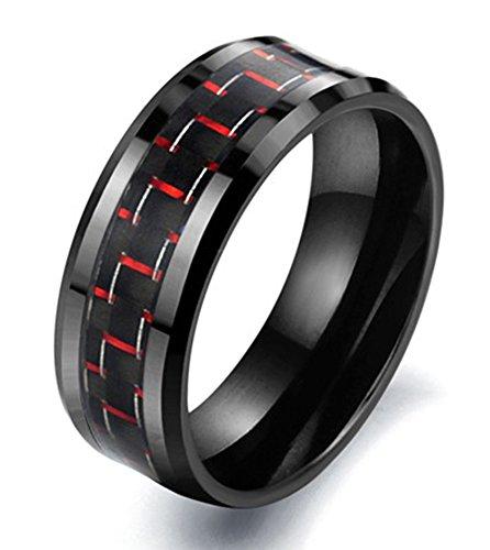 SaySure - fiber Ceramic Men rings black Anello Anneau Anel (SIZE :10)