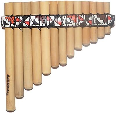 Bambú curvado Pan Flauta Antara 13tubos Artisan hecha a mano de Perú–E minor