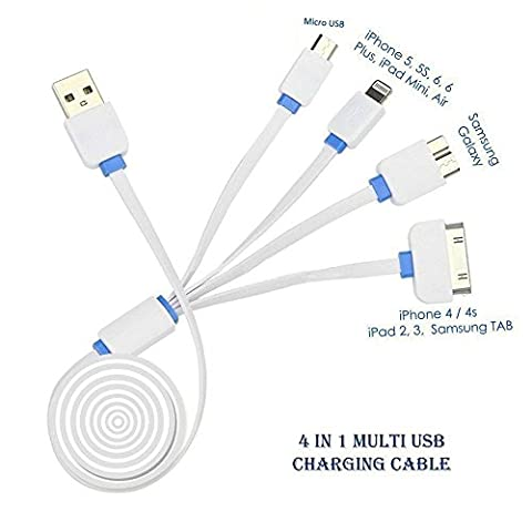Multi Charging Cable, Gembonics 3ft High Quality 4 in 1