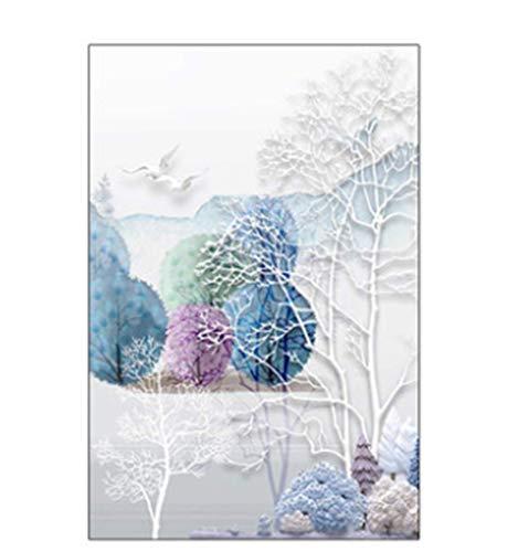 Bilderrahmen Deko Wand Family Glasaufkleber Elch Badezimmer, Lichtdurchlässiges Fenster Matt Undurchsichtig Stereo Glimmend 45X60Cm - Elch Bilderrahmen