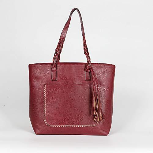 GMYANDJB Luxury Fashion Designer Tote Bag Leather Big Casual Women Handbag Vintage Tassel Shoulder Bags Female Shopper