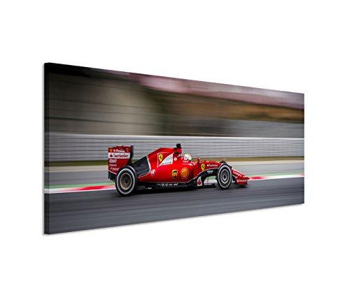 Modernes Bild 120x40cm Künstlerische Fotografie - Seastian Vettel im Scuderia Ferrari F1 Team