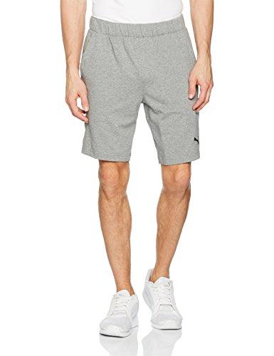 Puma Erwachsene ESS Jersey Shorts 9 Zoll Hose, Medium Gray Heather, L - Puma-jersey-shorts