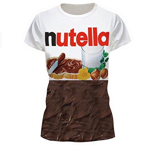 Leckere Schokolade Brot Essen T-Shirt Damen Kurze Ärmel T-Shirt M