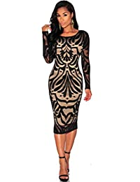 1c4872fcd8eee1 Damen Kleider Frauen Evening Dress Bodycon Spitzenkleid Schwarz Mini Kleid  Partykleid Cocktailkleid Knielänge Abendkleid Herst Bleistiftkleid