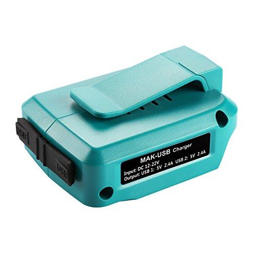 Energup 14.4V~18V USB Adapter - USB Stromquelle Addon für Makita Akku BL1830 BL1840 BL1850 (21v Usb)