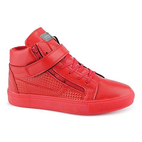 Scarpe sportive rosse con cerniera per donna El Envío Libre 2018 Unisex XrHYvMz