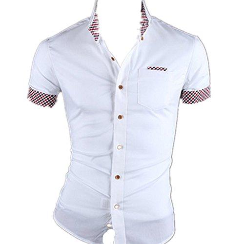Fanessy Hemd Slim Fit 3 Farben Größen M-2XXL Herren Modell Business Weiß