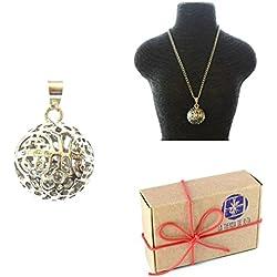 Llamador de ángel Esfera POLITA, con cascabel en caja de regalo + pulsera GRATIS
