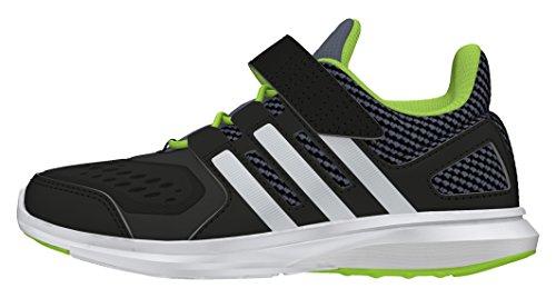 adidas Hyperfast 2.0 El K, Chaussures de Running Entrainement Garçon Noir (Negbas / Plamat / SEVESO)