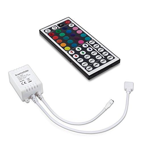 kwmobile RGB LED Controller mit 44 Tasten Fernbedienung 12V 3x2A