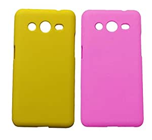 Winsome Deal 2 Pieces of Exclusive Quality Hard Back Cover Case For Samsung G 335h