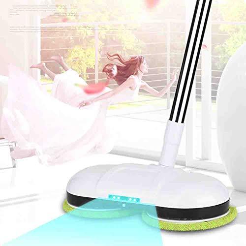 Drei in Einem Kabelloser Elektrischer Mop Multifunktions-90 ° Spinning LED-Beleuchtung Handheld Wiederaufladbare Reinigung