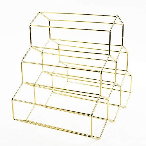 Freistehende Weinregale aus Metall 6 Flaschen, Moderner minimalistischer Stil/Platz sparen/Inneneinrichtung, Zwei schöne Farben Gold/Rosegold,Gold