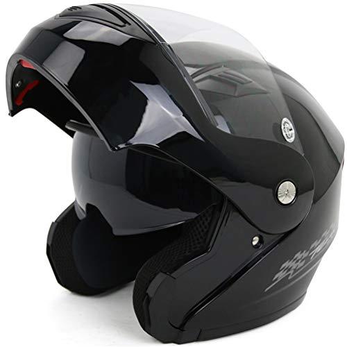 Qianliuk Motorrad Motorrad Helme Herbst Winter Windproof Warm Double Lens Cap Full Face Motorbike Helm Milky White