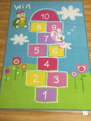 GRENSS Grünes Gras und Zahlen gedruckt Kinder Teppich jungen Mädchen, die Kriechen Mat Baby Lernen Tapeta Rutschfeste, sichere Kinder Teppich (Grünes Gras Mat)