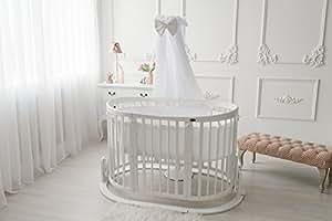 ComfortBaby © - Kinder Baby Bett - Oval - 4 in 1 - aus