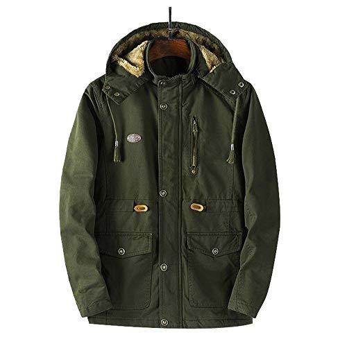 JiaMeng Männer Winterjacken Dünne Lange Graben Reißverschluss Tasten Mantel Warm Futter Mantel Outwear