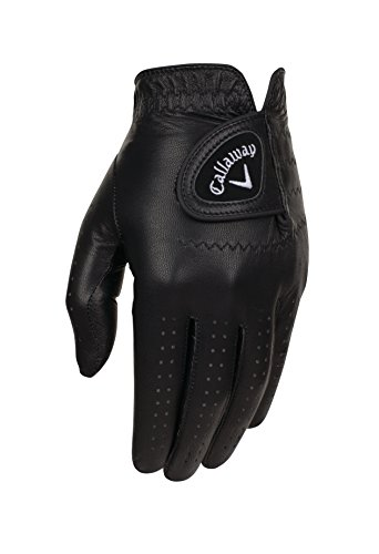 Callaway Golf opticolor Premium Full Color Leder Handschuhe L schwarz