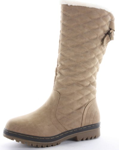 womens-winter-fur-lined-quilted-low-flat-heel-snow-calf-boots-size-3-8