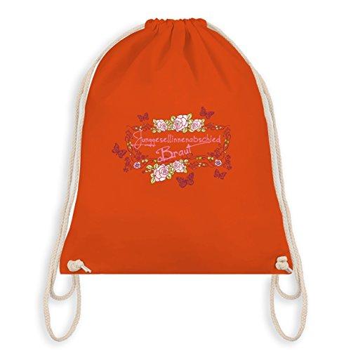 Braut Bag Junggesellinnenabschied I Orange Turnbeutel Schmetterlinge Gym Blumen JGA w5qF7B07
