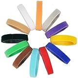 All4pet DC-P85 Klettverschluss Puppy & Kitten ID Halsbänder, ID Bands, 12 Farben, weich, verstellbar und wiederverwendbar