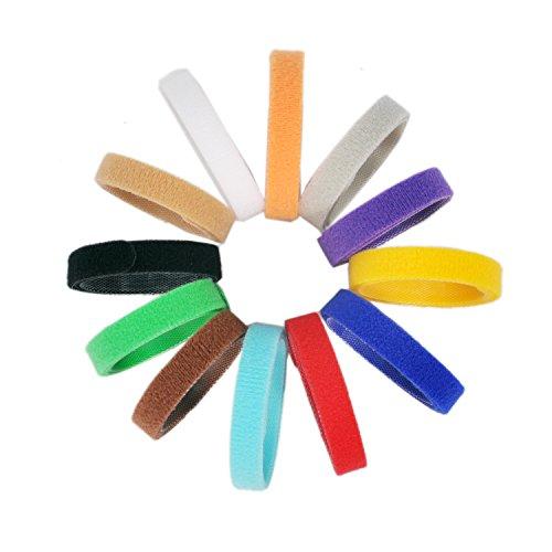 All4pet DC-P80 Hundehalsband mit Klettverschluss, 35,6 cm lang, weich, verstellbar und wiederverwendbar, 12 Farben (Mädchen-band Zwölf)