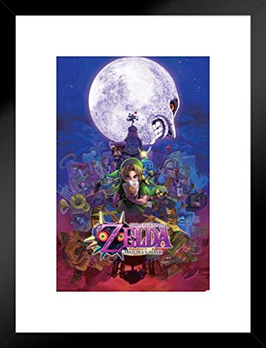 Pyramid America The Legend Zelda Majoras Maske Nintendo Fantasy Video Game Series Link Prinzessin Passepartout gerahmt Poster 50,8 x 66 cm