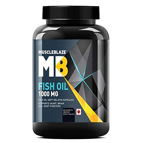 MuscleBlaze Omega 3 Fish Oil 1000 mg (180mg EPA and 120mg DHA) (180 Capsules)