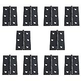 10 Stück matt schwarz Tür Scharniere mit Radius Ecken, 57,9 x 33 cm