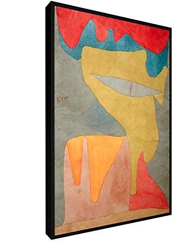 Paul Klee - Fräulein - 1934 - 40x60 cm - Leinwandbild mit Schattenfugenrahmen - Wand-Bild - Kunst, Gemälde, Foto, Bild auf Leinwand mit Rahmen - Alte Meister / Museum Fräulein Klee