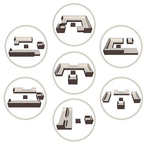 The Dining Rooms Oswestry: TecTake XXL Aluminium Luxury Rattan Garden Furniture Sofa